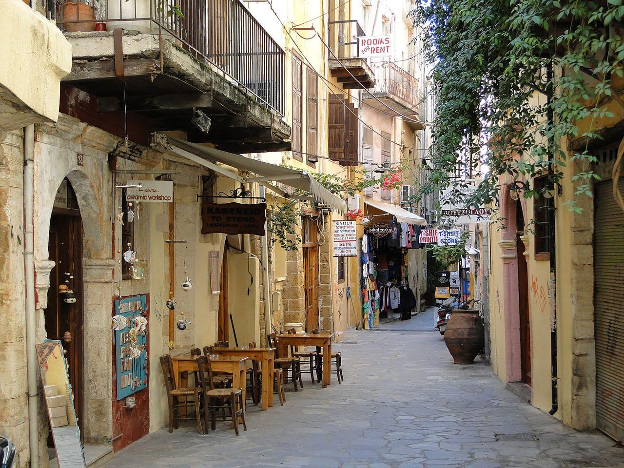 Chania Crete street
