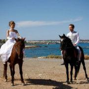 horse riding wedding