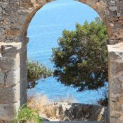 the historical spinalonga island in Crete